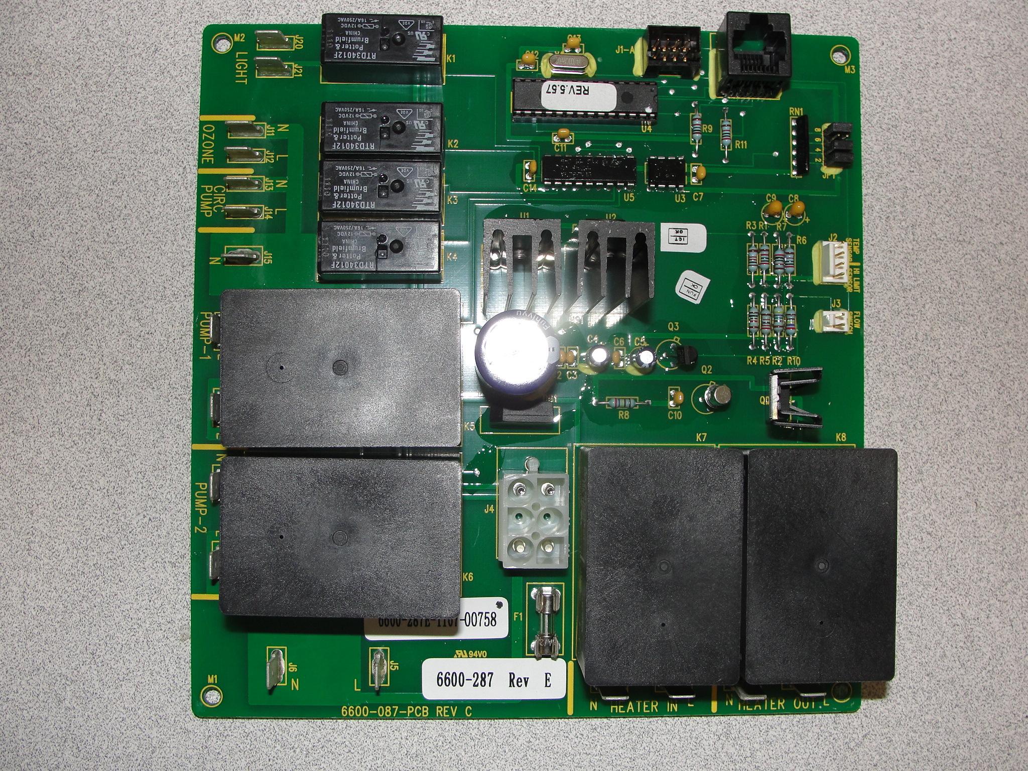 Sundance Spa Circuit Board Wiring Diagrams Diagram 6600 287 A 1 Control Rebuilt Boards Cameo Parts