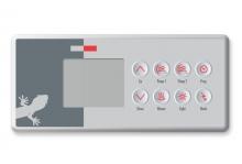 Gecko spa topside control panel TSC-4-GE1 AND OVERLAY