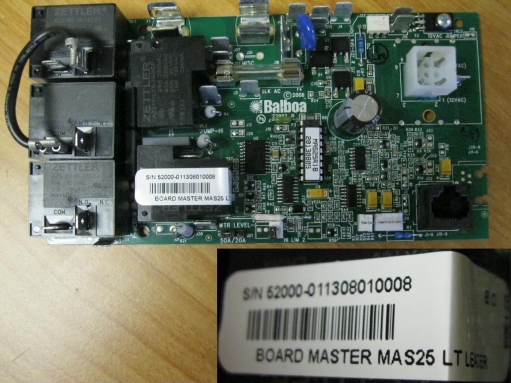 Master Spas Circuit Board MAS 25 - X800660